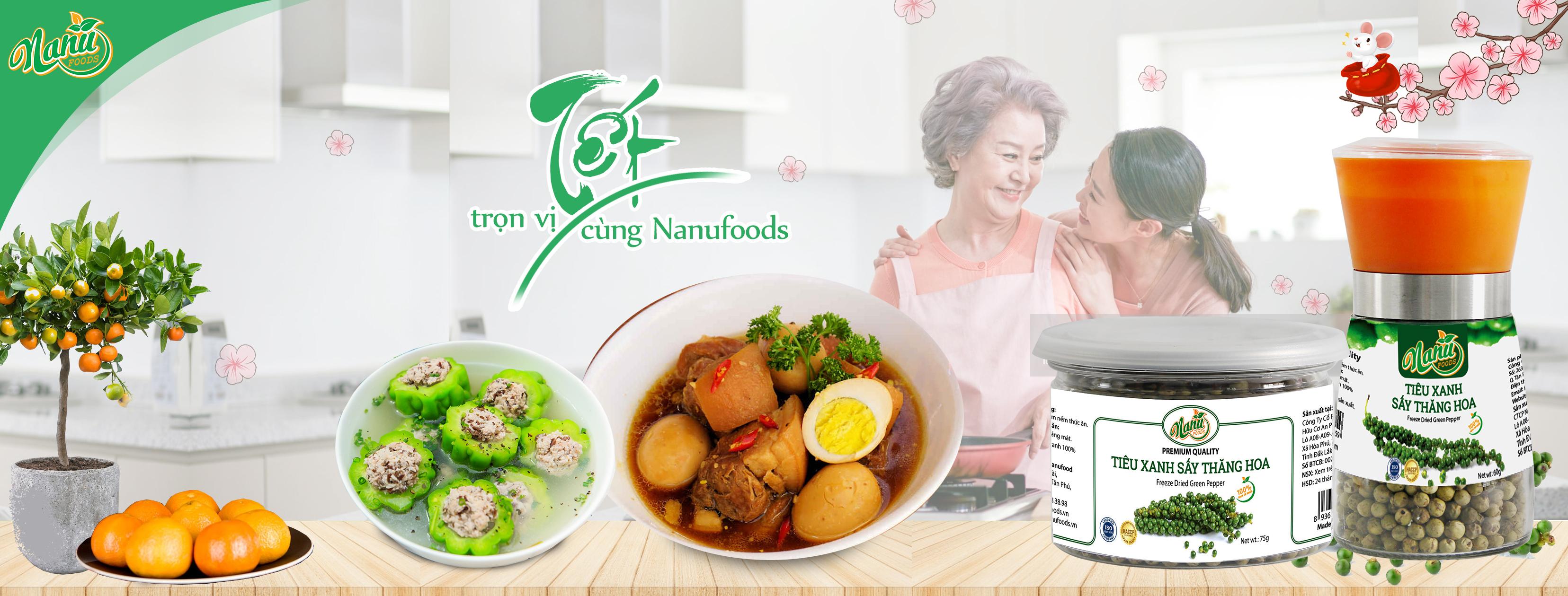 Bánh kẹo Tết Nanufood