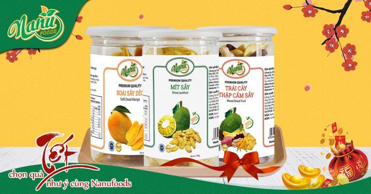 Quà Tết - Trái cây sấy Nanufood