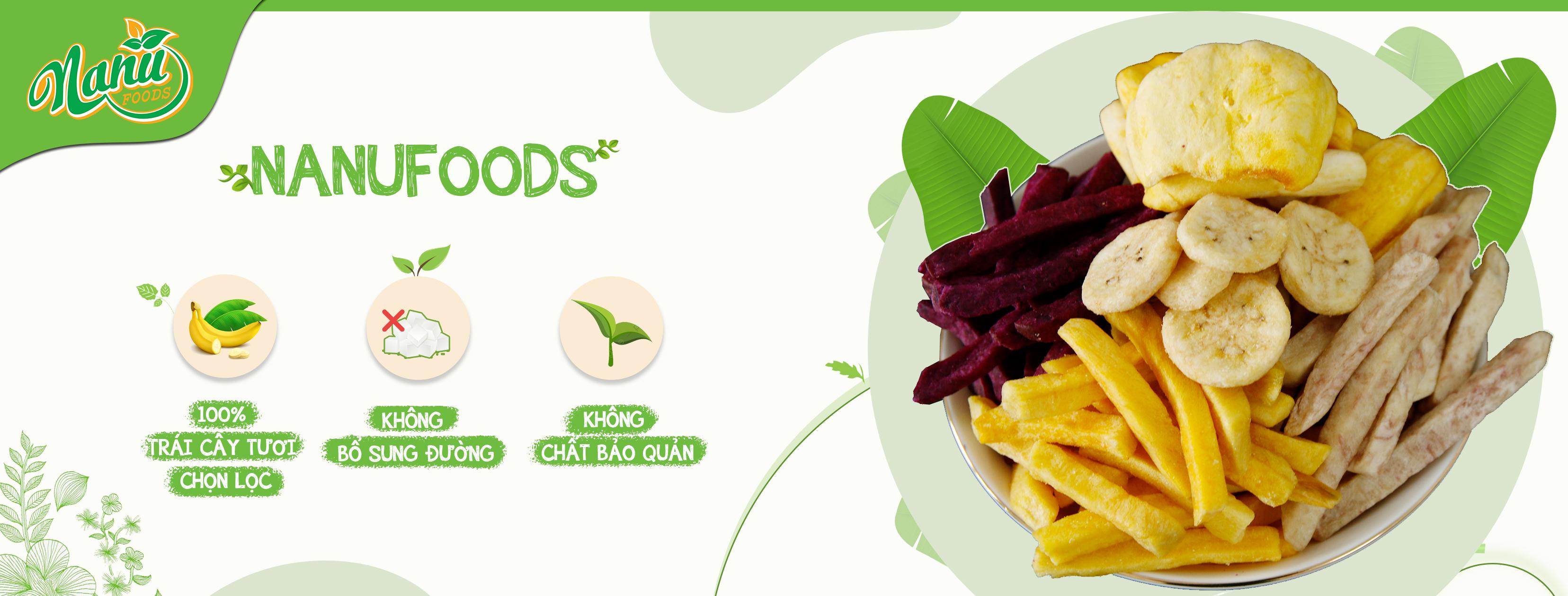 Banner Trái cây sấy Nanufood