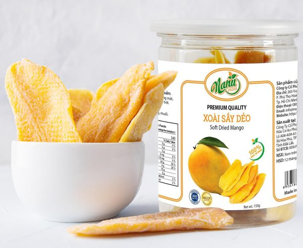 Soft dried mango