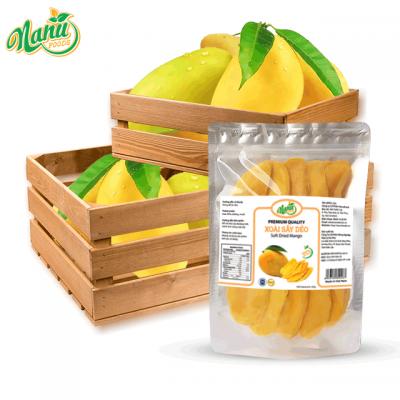 Soft dried mango in zipper bags